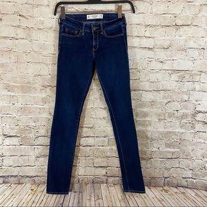 Abercrombie & Fitch skinny jeans size 0R  25x31